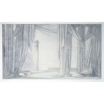 Drawing - Design for stage-setting of Oscar Wilde's 'Salome'