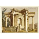 Fountain at Balbec; Temple of Venus, Baalbek (Watercolour)
