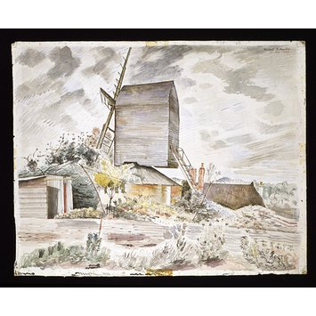 Watercolour - Post Mill, Finchingfield, Essex; Recording Britain Collection