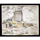 Post Mill, Finchingfield, Essex; Recording Britain Collection (Watercolour)