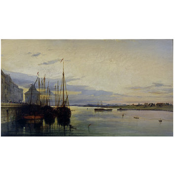 Oil painting - Nimeguen, on the Rhine; Nijmegen