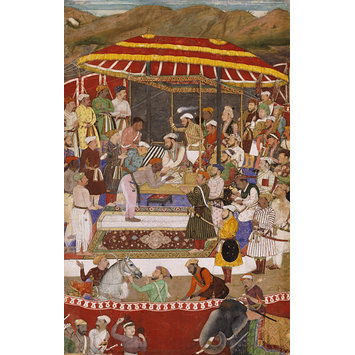 Painting - The Maharana of Mewar submitting to Prince Khurram