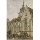 Church in Normandy; St Giles (Watercolour)