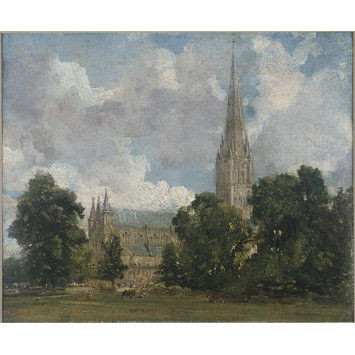 Oil sketch - Salisbury Cathedral from the south-west