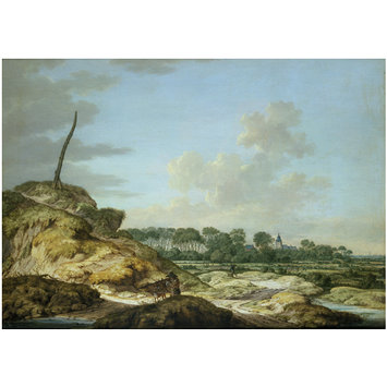 Oil painting - A View of the Island of Walcheren, with the castle of Westhoven