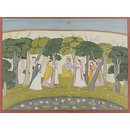 Krishna and the milk-maids (Painting)