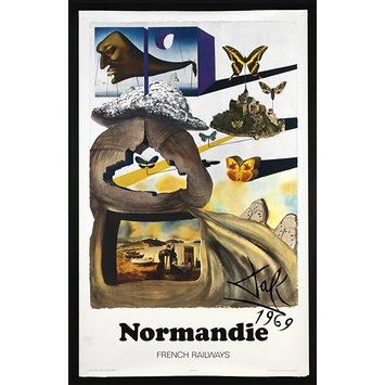 Poster - Normandie, French Railways