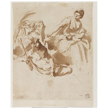 Drawing - Allegory in honour of the Duchess of Mantua