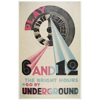 Poster - Play Between 6 And 12, The Bright Hours. Go By Underground