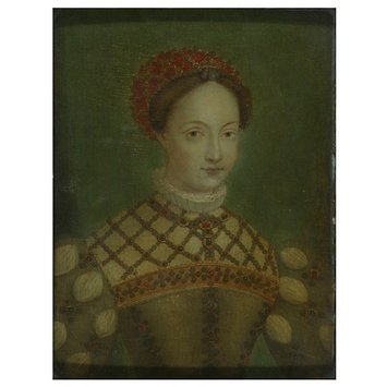 Oil painting - Alleged Portrait of Anne de Pisseleu, Duchesse D'Étampes, Mistress of François I
