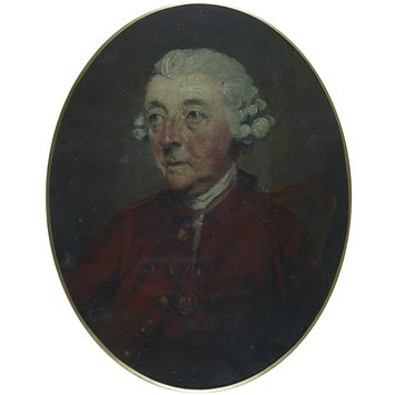 Oil painting - William Whitehead, Poet Laureate (1715-1789)
