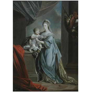 Oil painting - Princess Augusta Charlotte with Her Infant Son