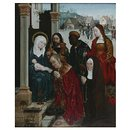 The Adoration of the Magi with St Margaret and a Nun (Oil painting)
