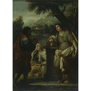 Eliezer and Rebekah at the well (Oil painting)