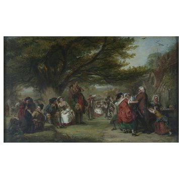Oil painting - An English Merry-Making, a Hundred Years Ago