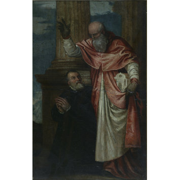 Oil painting - St. Jerome and Girolamo Petrobelli