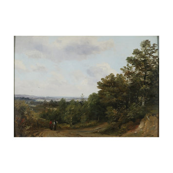 Oil painting - A Distant View of Windsor from St George's Hill