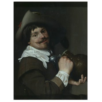 Oil painting - Man with a jug