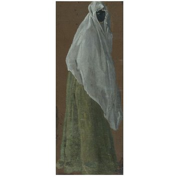 Oil painting - A Masked Lady