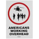 Americans Working Overhead (Sticker)