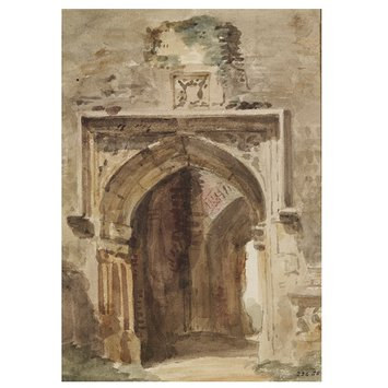 Watercolour - East Bergholt Church: south archway of the ruined tower