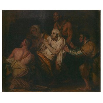 Oil painting - Christ Healing the Sick (a sketch)