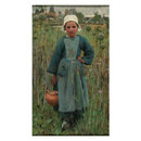 Peasant Girl Carrying a Jar, Quimperlé (Oil painting)