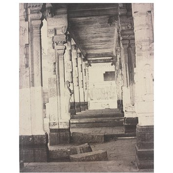Photograph - Side Collonnade in the Muroothappa sarvacar Mundapam