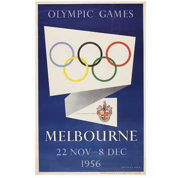 Poster - Olympic Games Melbourne 22 Nov - 8 Dec 1956