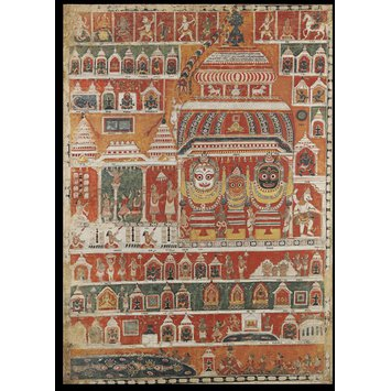 Painting - View of the Jagannatha Temple, Puri