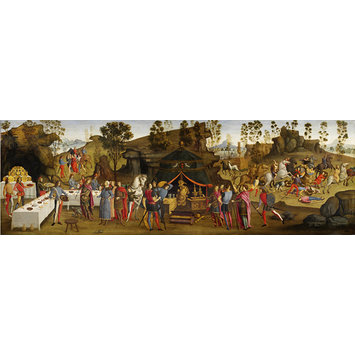 Tempera painting - The Magnanimity of Alexander the Great; Scenes from the story of Alexander the Great