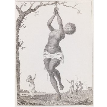 Print - Flagellation of a Female Samboe Slave