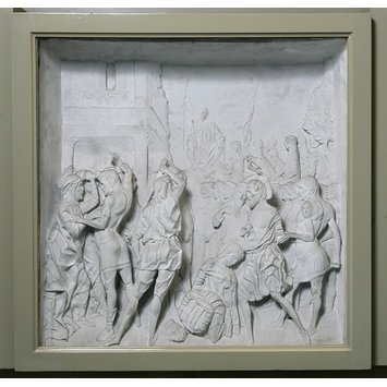 Plaster cast - The Martyrdom of Saints Marius and Martha and of their sons Audifax and Abrachum