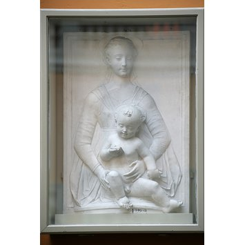 Plaster cast - Virgin and child
