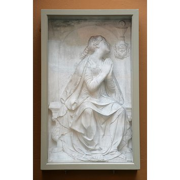 Plaster cast - Faith adoring the Holy Sacrament