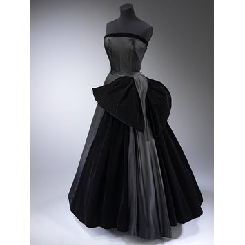 Evening dress - Cygne Noir (Black Swan); La Ligne Milieu du Siecle