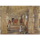 Interior of the Neminath temple, Dilwara, Mount Abu (Painting)