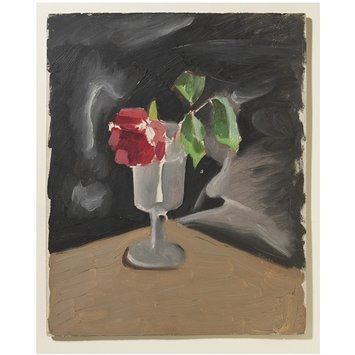 Oil painting - A Rose in a Glass
