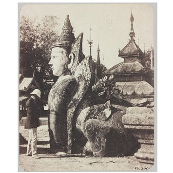 Photograph - Manuthiha, Guardian at the Shwe-Dagon Pagoda; Corner of great pagoda