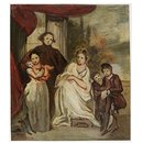 A Gentleman, His Wife and Children (Oil painting)