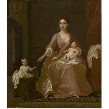 Oil painting - Unknown Woman and Two Children