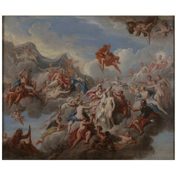 Oil painting - Psyche being dressed by the Gods for her marriage with Cupid