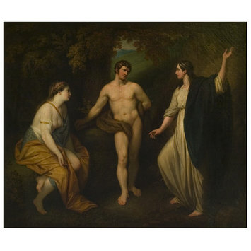 Oil painting - The Choice of Hercules between Virtue and Pleasure