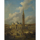 Venice, Piazza San Marco, Looking towards the Cathedral (Oil painting)