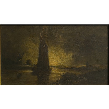 Oil painting - A Wherry on a Norfolk Broad