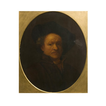 Oil painting - Copy of Rembrandt's 1660 Self Portrait