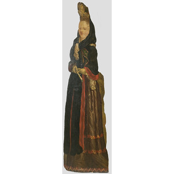 Dummy board - Woman with Fontagne Head-Dress