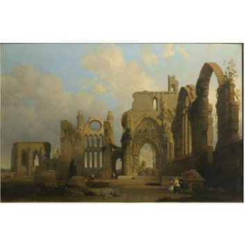 Oil painting - Ruins of Elgin Cathedral