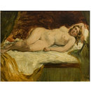 Study of a Nude Female Sleeping (Oil painting)