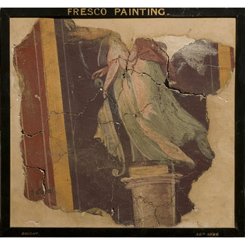 Fresco - Lower Half of a Decorative Figure (fragment of wall decoration)